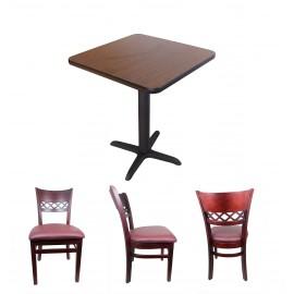 Royal Bistro - Bord och stolar för kafé cafe